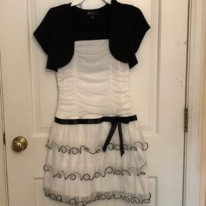 Formal White & Black Dress